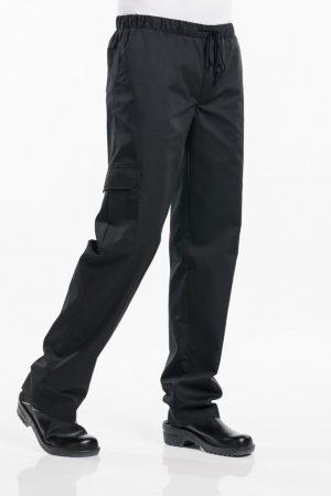 מכנס שף BAGGY באגי בצבע שחור