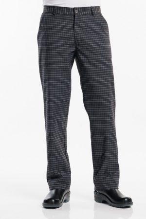 מכנס שף AREZZO משבצות שחור