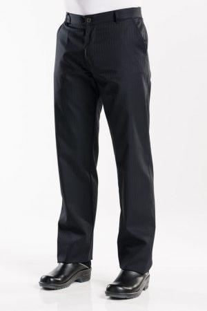 מכנס שף SATINO שחור פסי סאטן