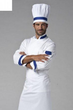 גקט שף מדגם Jack אינסרט כחול תוצרת איטליה