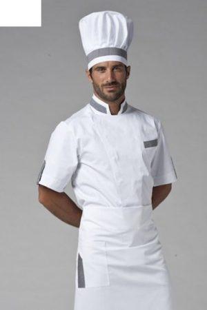 גקט שף מדגם Dean אינסרט אפור תוצרת איטליה