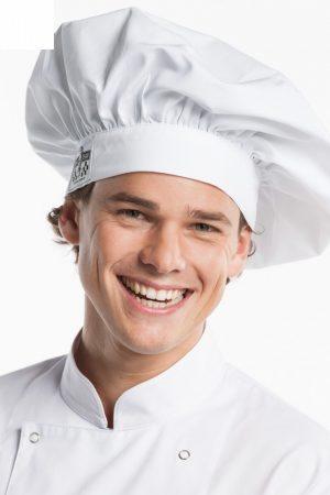 כובע שף קלאסי לבן