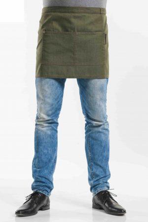 סינר BASE ג'ינס ירוק עם 2 כיסים קידמיים