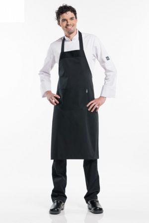 סינר טבח ללא כיסים בצבע שחור