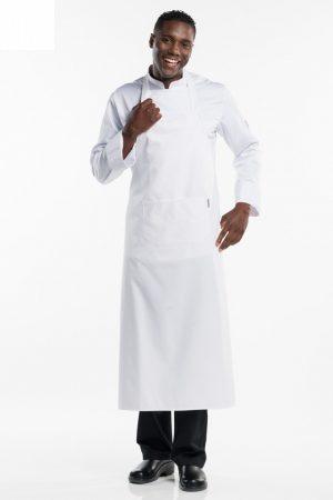 סינר BBQ רחב וארוך במיוחד בצבע לבן