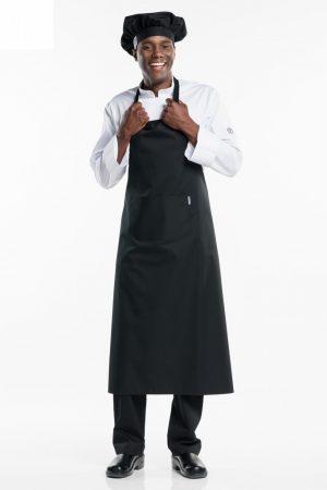 סינר BBQ רחב במיוחד וארוך במיוחד בצבע שחור