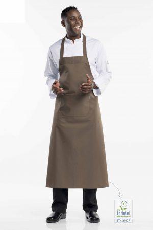 סינר BBQ רחב וארוך במיוחד בצבע חום