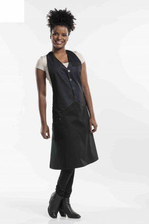 סינר BARISTA אלגנטי במראה המחויט ג'ינס שחור