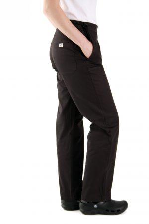 מכנסי נשים שפית / טבחית / קונדיטורית שחור