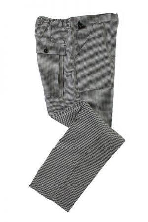 מכנסי שף BAGGY באגי דוגמאת קוביות בסיס אפור